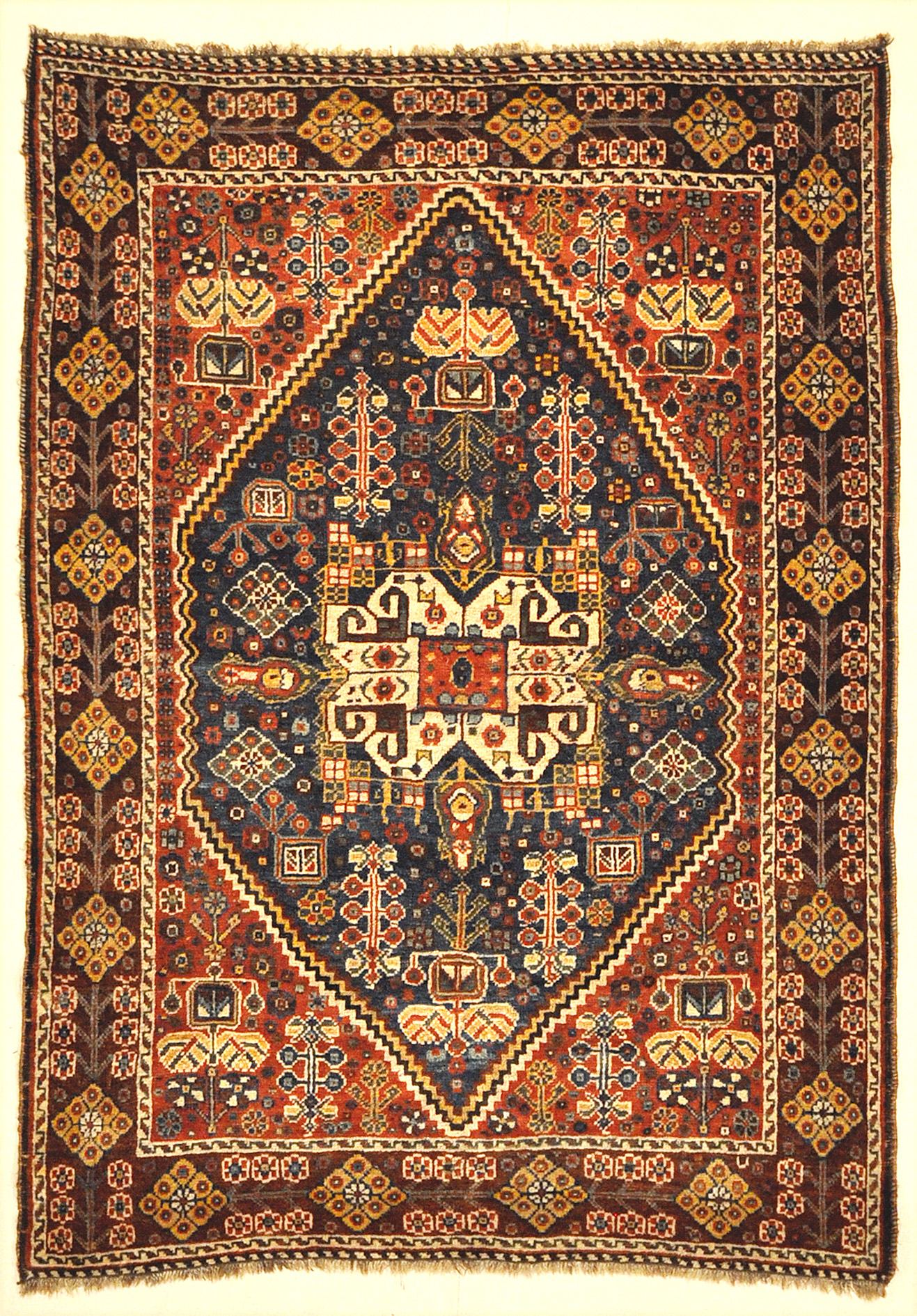 Antique Persian Qashgai Woven Circa 1890 Genuine Authentic Intricate Woven Carpet Art Santa Barbara Design Center Rugs and More