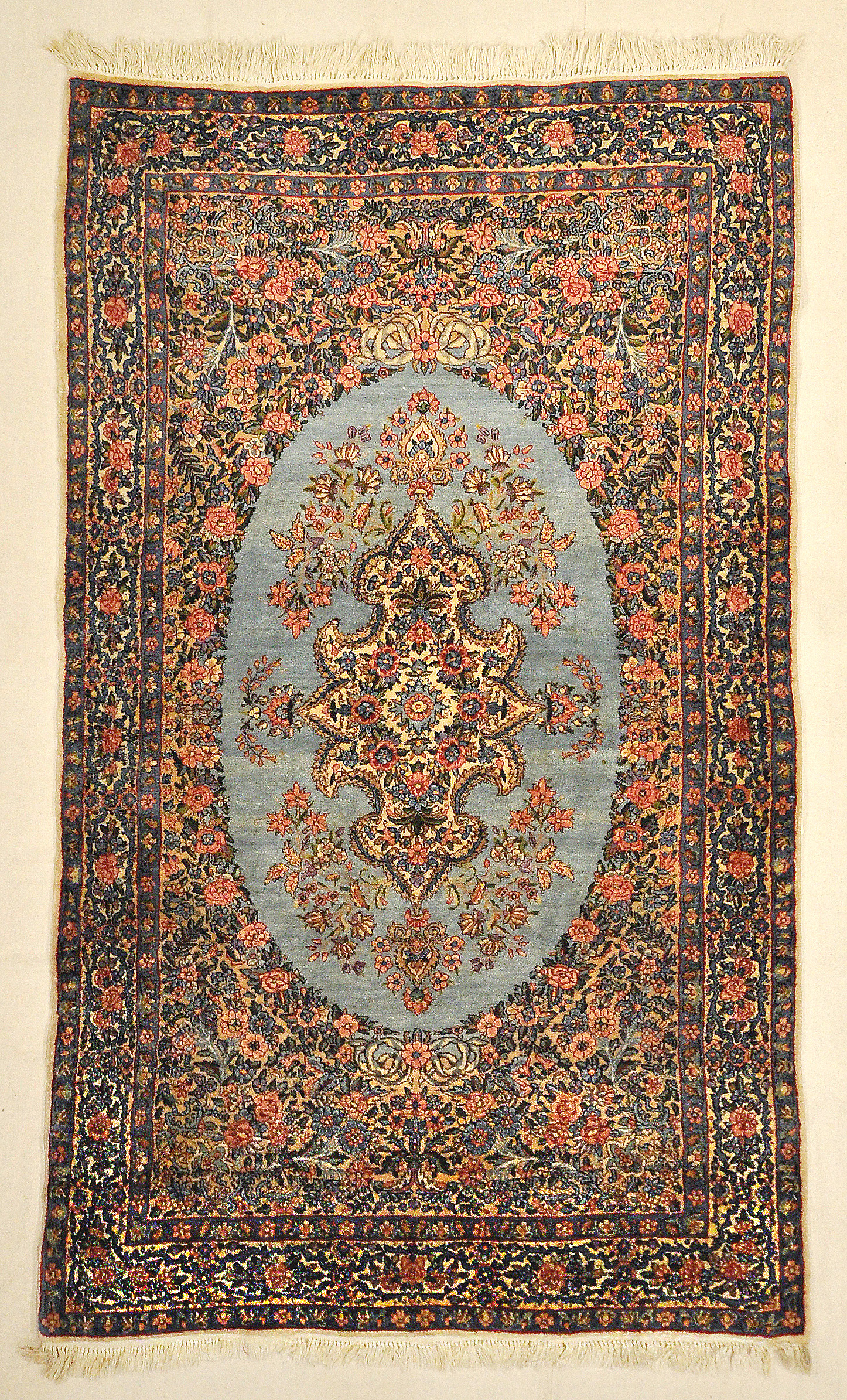 Antique Persian Kerman Rug Garden of Paradise with 1001 Flowers Around Pool of Water Genuine Carpet Art Santa Barbara Design Center Rugs and More
