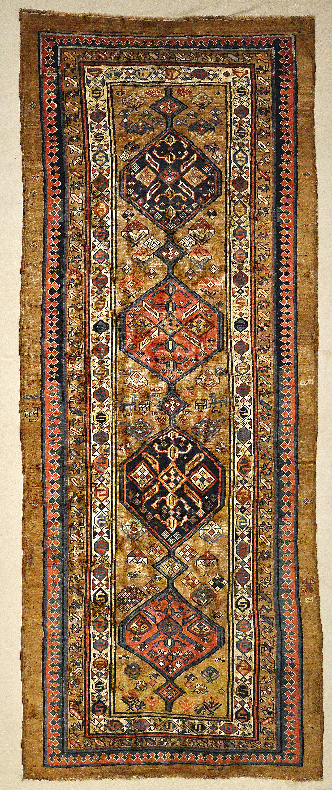 Antique Tribal Persian Camelhair Sarab Genuine Woven Carpet Art Authentic Intricate Santa Barbara Design Center Rugs and More