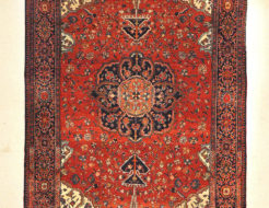Fine Antique Persian Farahan Kork Wool Authentic Intricate Genuine Woven Carpet Art Santa Barbara Design Center Rugs and More