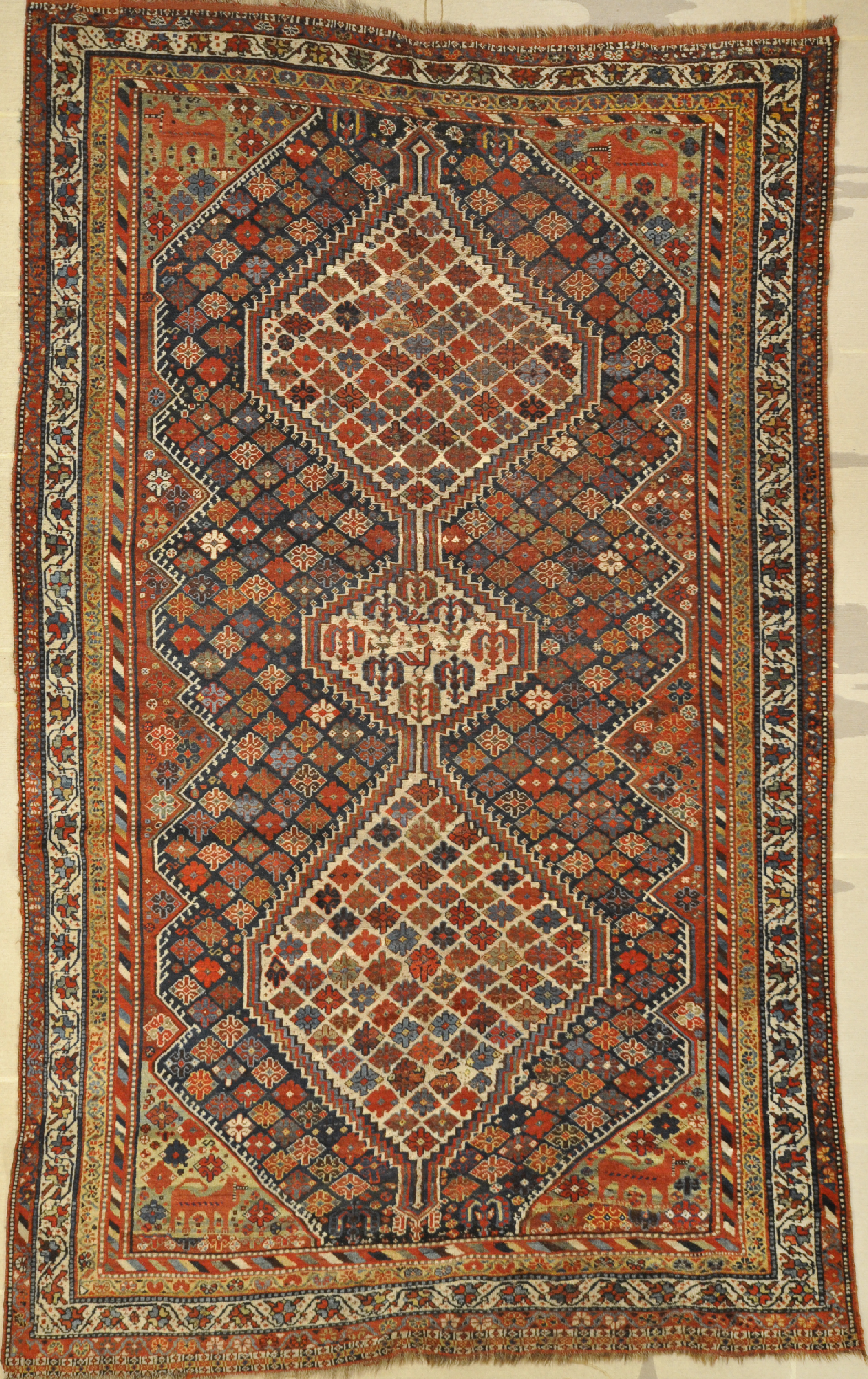 Antique qashqai Rug santa barbara design center