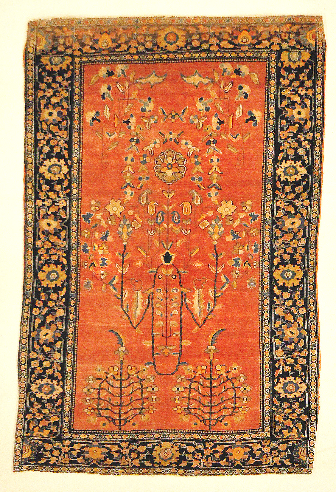 Unique Exemplary Sarouk Farahan Finest of its Kind Genuine Authentic Woven Carpet Art Santa Barbara Design Center Rugs and More