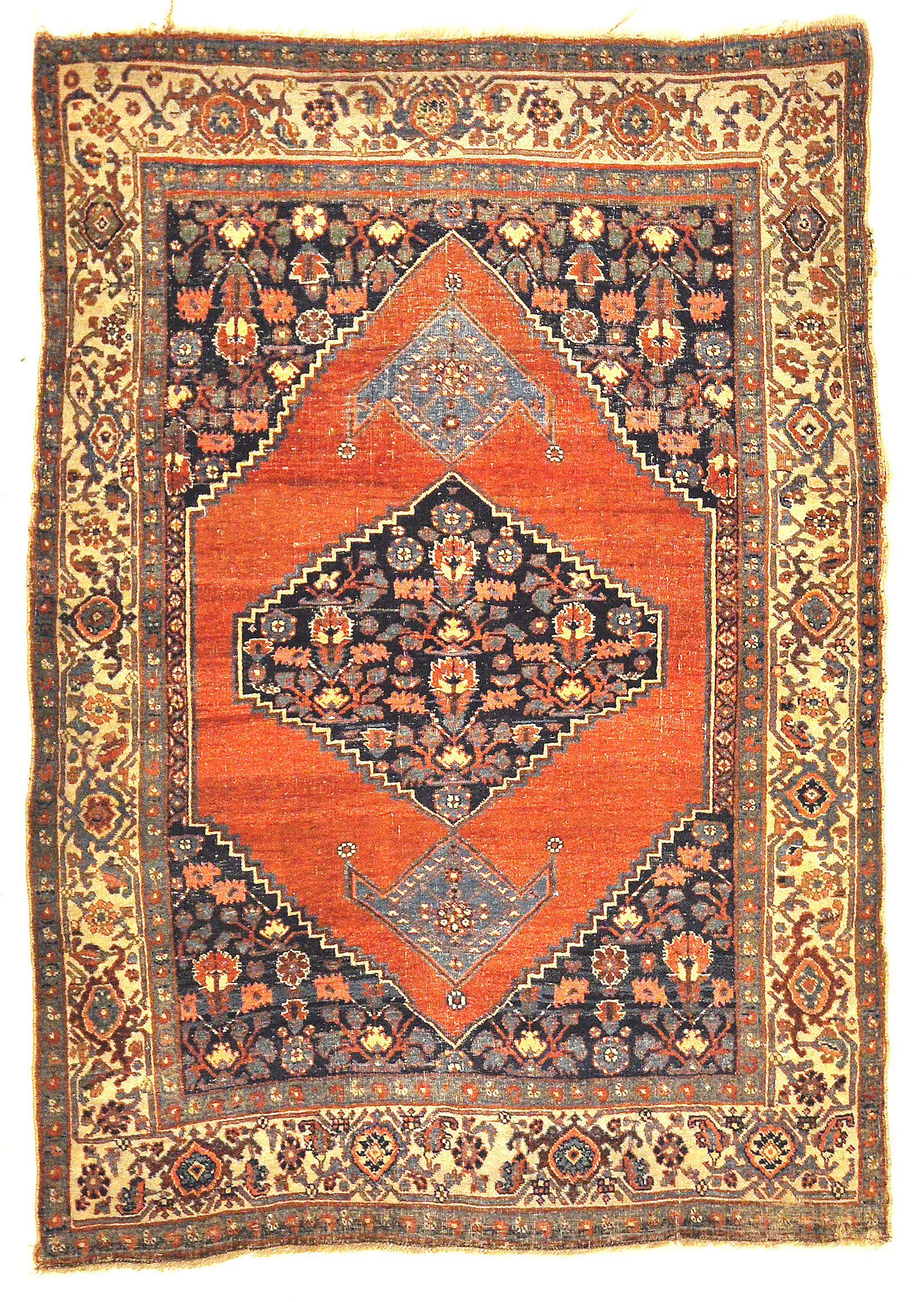 Antique Halvai Bijar Mid 19th Century Wool Foundation Genuine Authentic Carpet Art Santa Barbara Design Center Rugs and More
