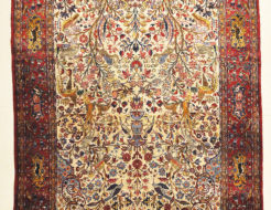 30103 Fine Antique Silk Persian Kashan Tree of Life Rug