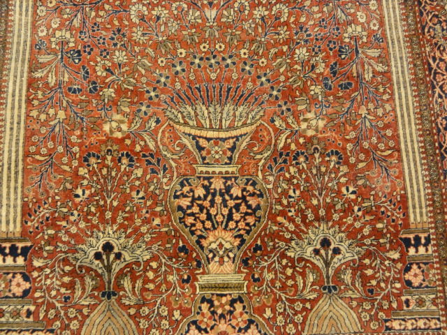 Antique Persian Mohtashar Kashan Tree of Life