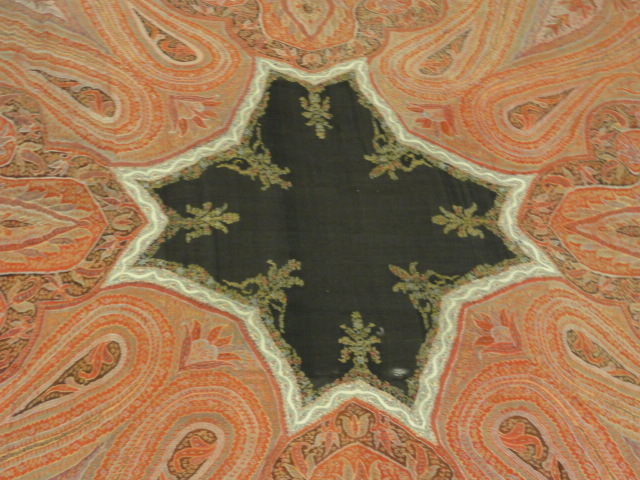 Kashmiri Pashmina Shawl Circa 1700 - The finest hand-knotted and natural dyed fibers. Visit us at the Rugs & More in the Santa Barbara Design Center.