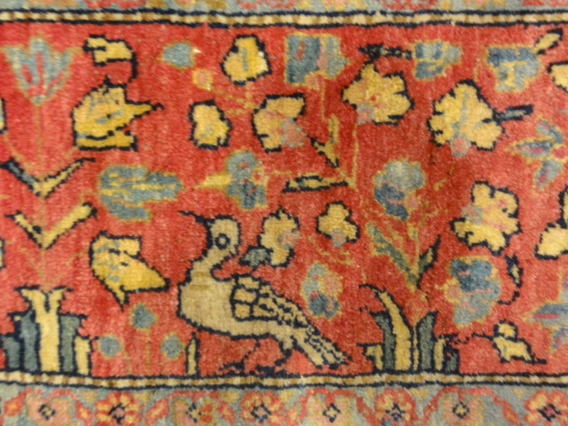 Antique Dabir Kashan. The finest hand-knotted and natural dyed fibers. Tree of life. Rugs & More Santa Barbara Design Center