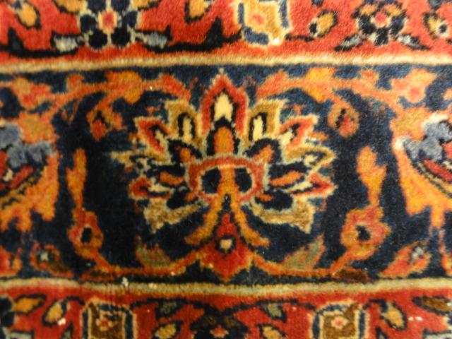 Antique Persian Wool Kashan Kork circa 19th Century