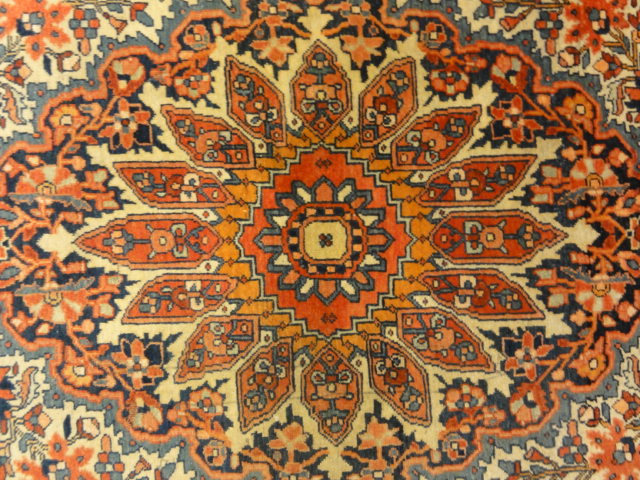 Wool and Cotton Antique Foundation Antique Persian Handspun Wool Sarouk Farahan Authentic Carpet Genuine Woven Art Santa Barbara Design Center Rugs and More