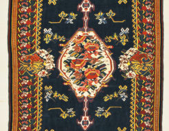Antique Persian Finest Silk Bijar Kelim