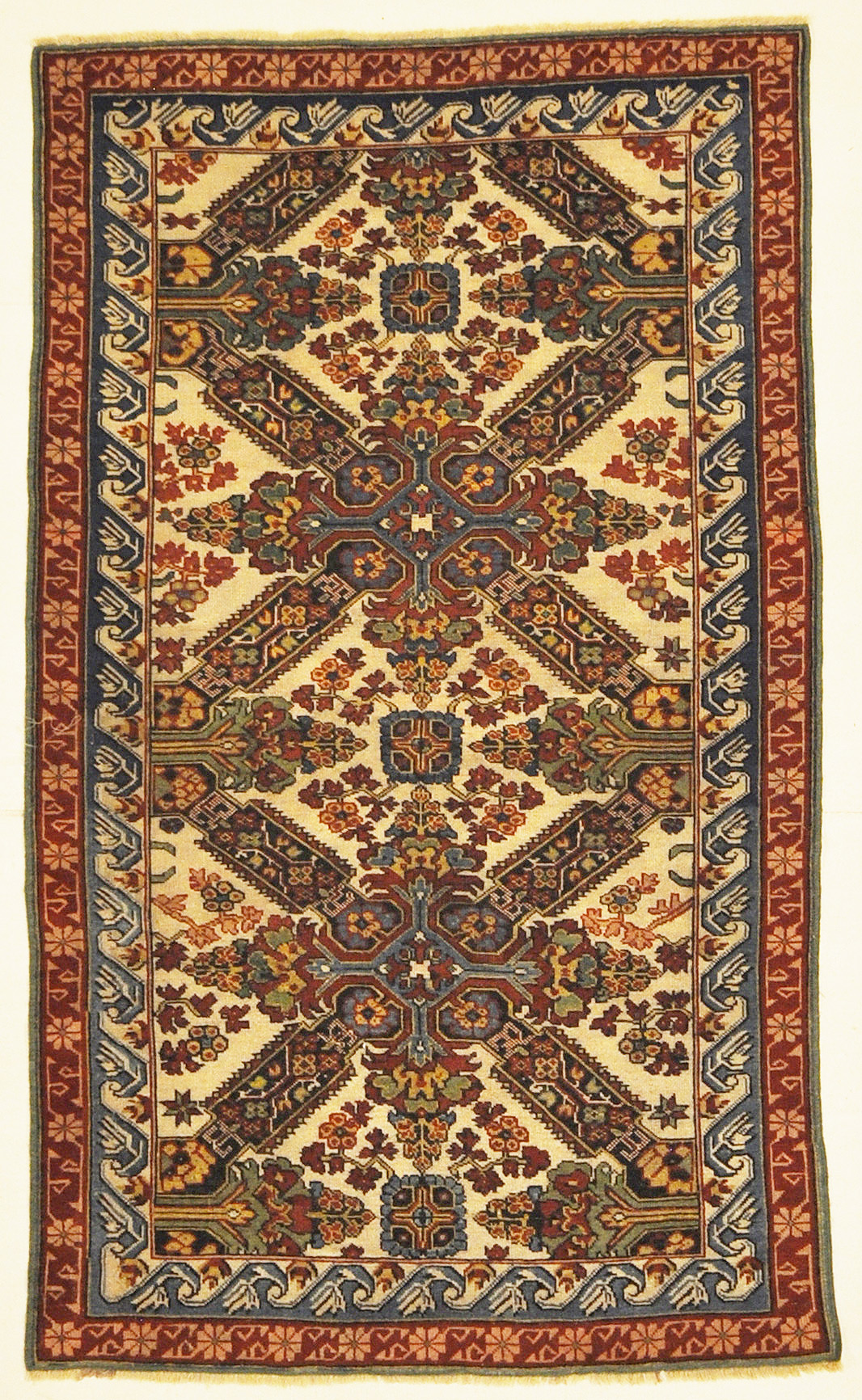 Rare Antique Caucasian Kuba Zeichur ca 1850 Genuine Tribal Classic Woven Art Azerbaijan Collectible Carpet Santa Barbara Design Center