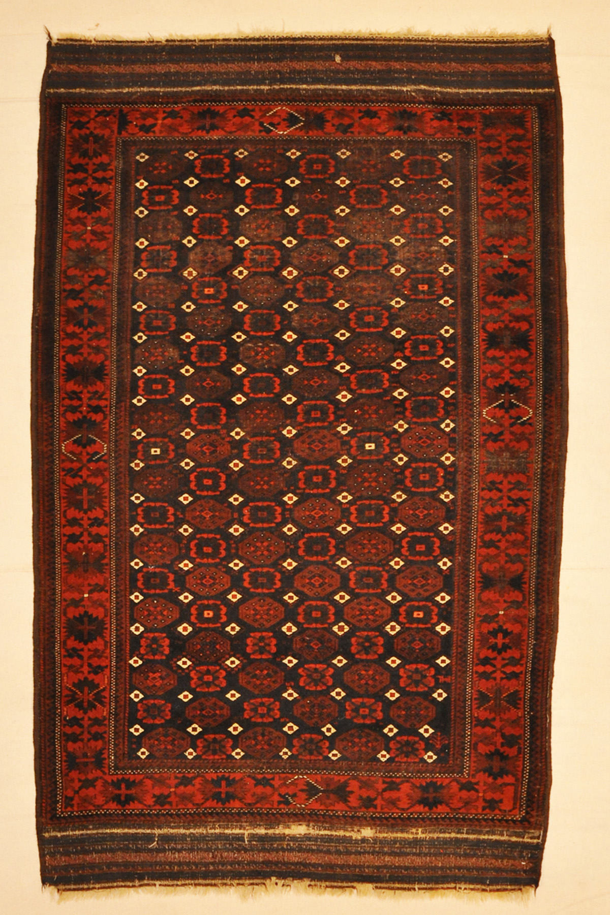 Antique Original Persian Baluch Rug with Original Ends Wool Baluchistan Santa Barbara Design Center Carpet Authentic Collectable