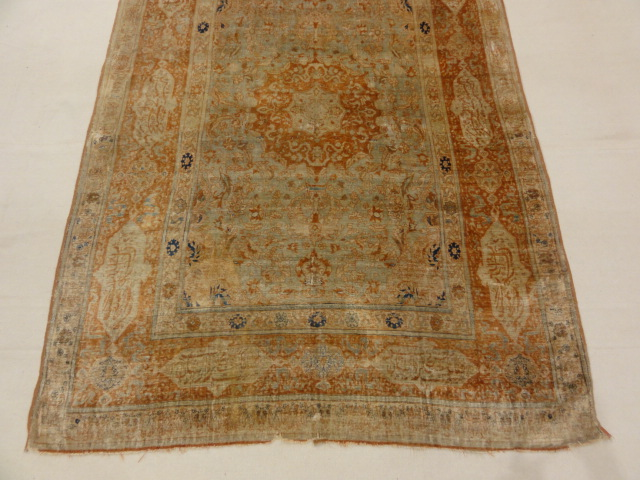 Rare 1800s Classical Silk Tabriz from Northwest Persia 30033