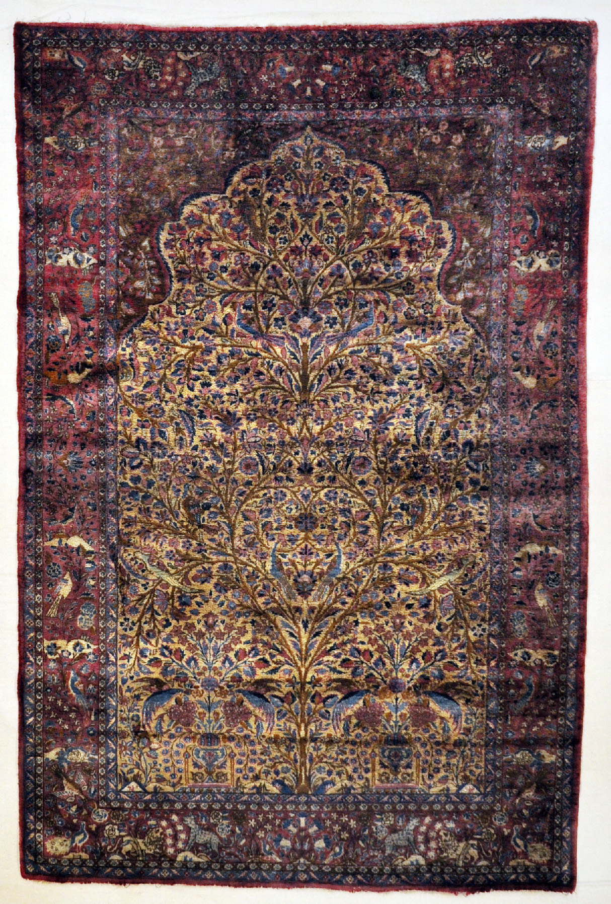 Antique Silk Kashan Tree of Life 30059