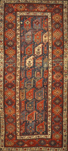 Antique Caucasian Botteh Rug 30343. A piece of genuine woven carpet art sold by Santa Barbara Design Center and Rugs and More.