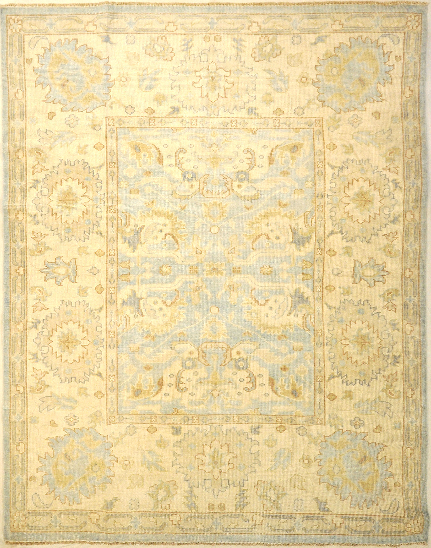 Montecito Oushak Rug 30312. A piece of genuine authentic woven art woven by Ziegler and Company and sold by Santa Barbara Design Center, Rugs and More.