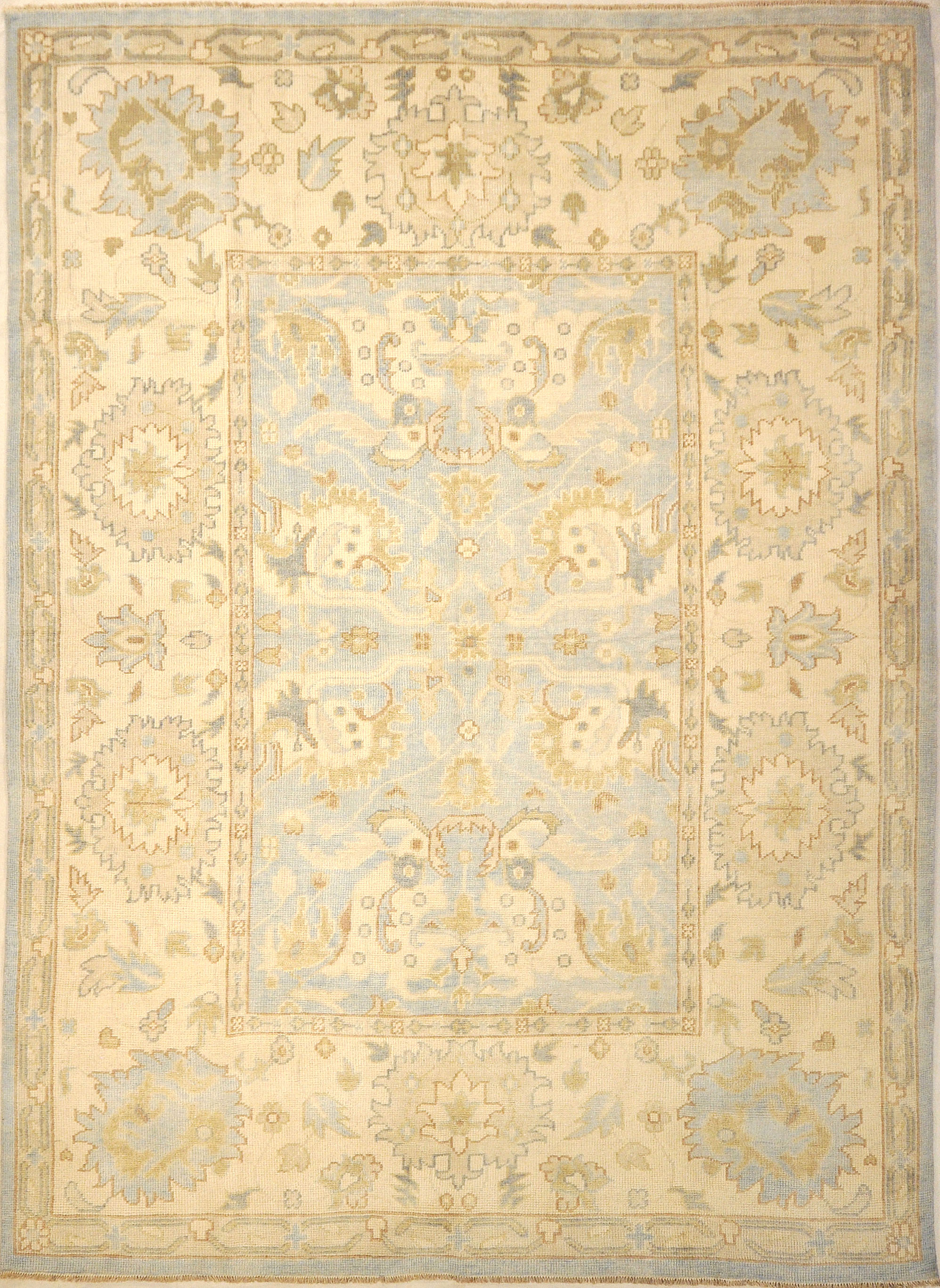 Montecito Oushak Rug 30311. A piece of genuine authentic woven art woven by Ziegler and Company and sold by Santa Barbara Design Center, Rugs and More.