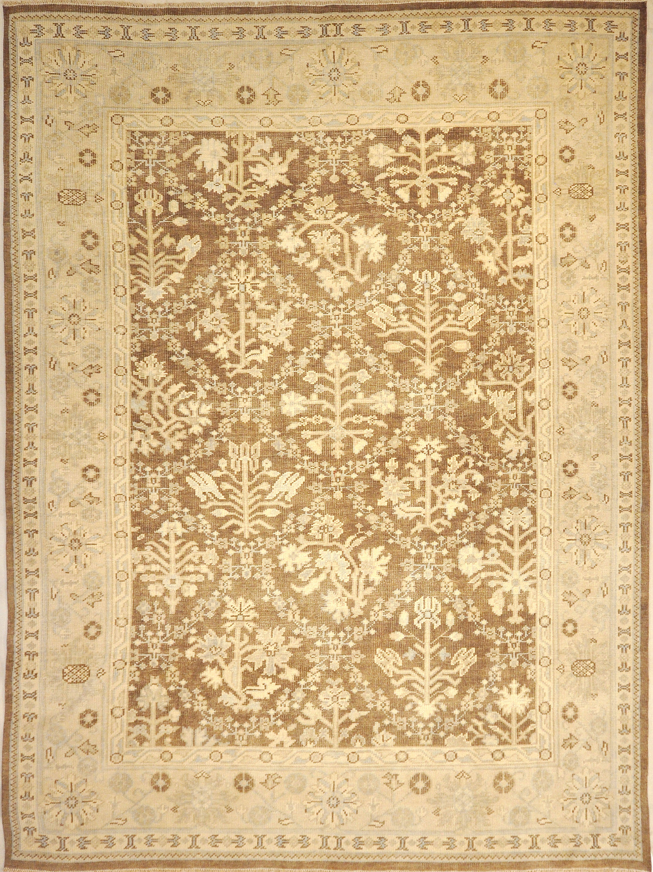 Montecito Oushak Rug 30310. A piece of genuine authentic woven art woven by Ziegler and Company and sold by Santa Barbara Design Center, Rugs and More.