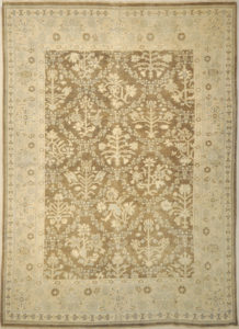 Montecito Oushak Rug 30309. A piece of genuine authentic woven art woven by Ziegler and Company and sold by Santa Barbara Design Center, Rugs and More.
