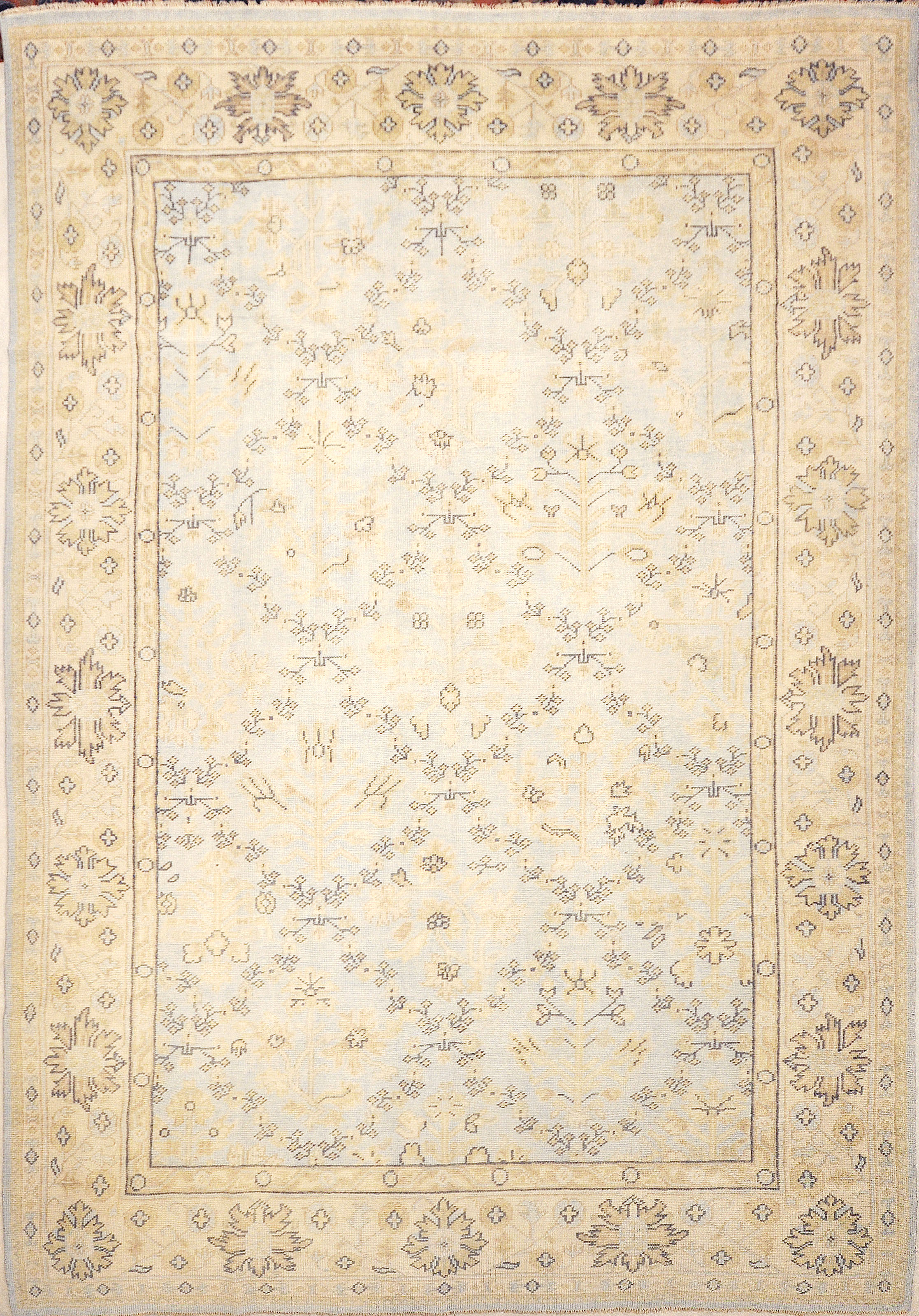 Montecito Oushak Rug 30307. A piece of genuine authentic woven art woven by Ziegler and Company and sold by Santa Barbara Design Center, Rugs and More.