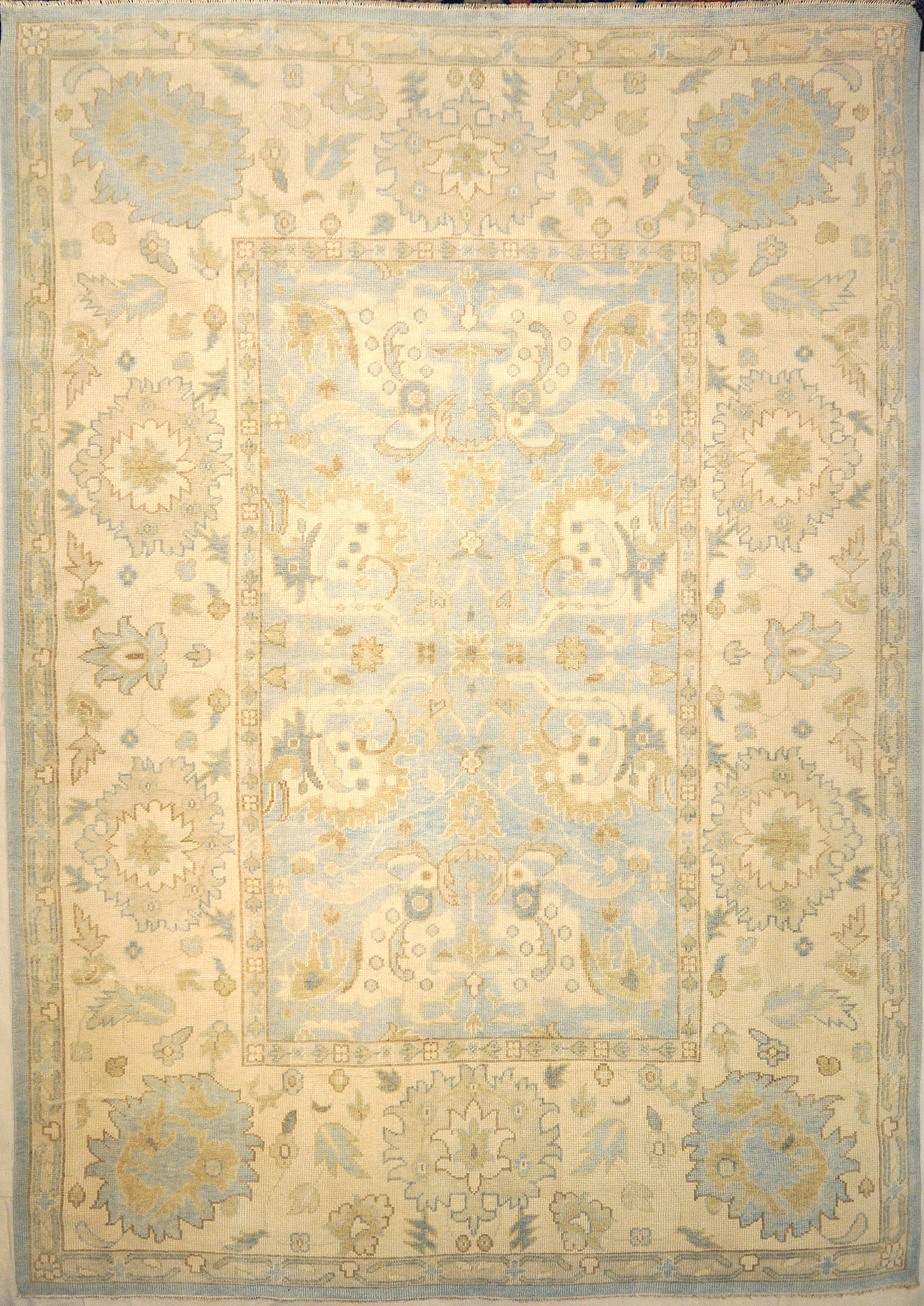 Montecito Oushak Rug 30313. A piece of genuine authentic woven art woven by Ziegler and Company and sold by Santa Barbara Design Center, Rugs and More.