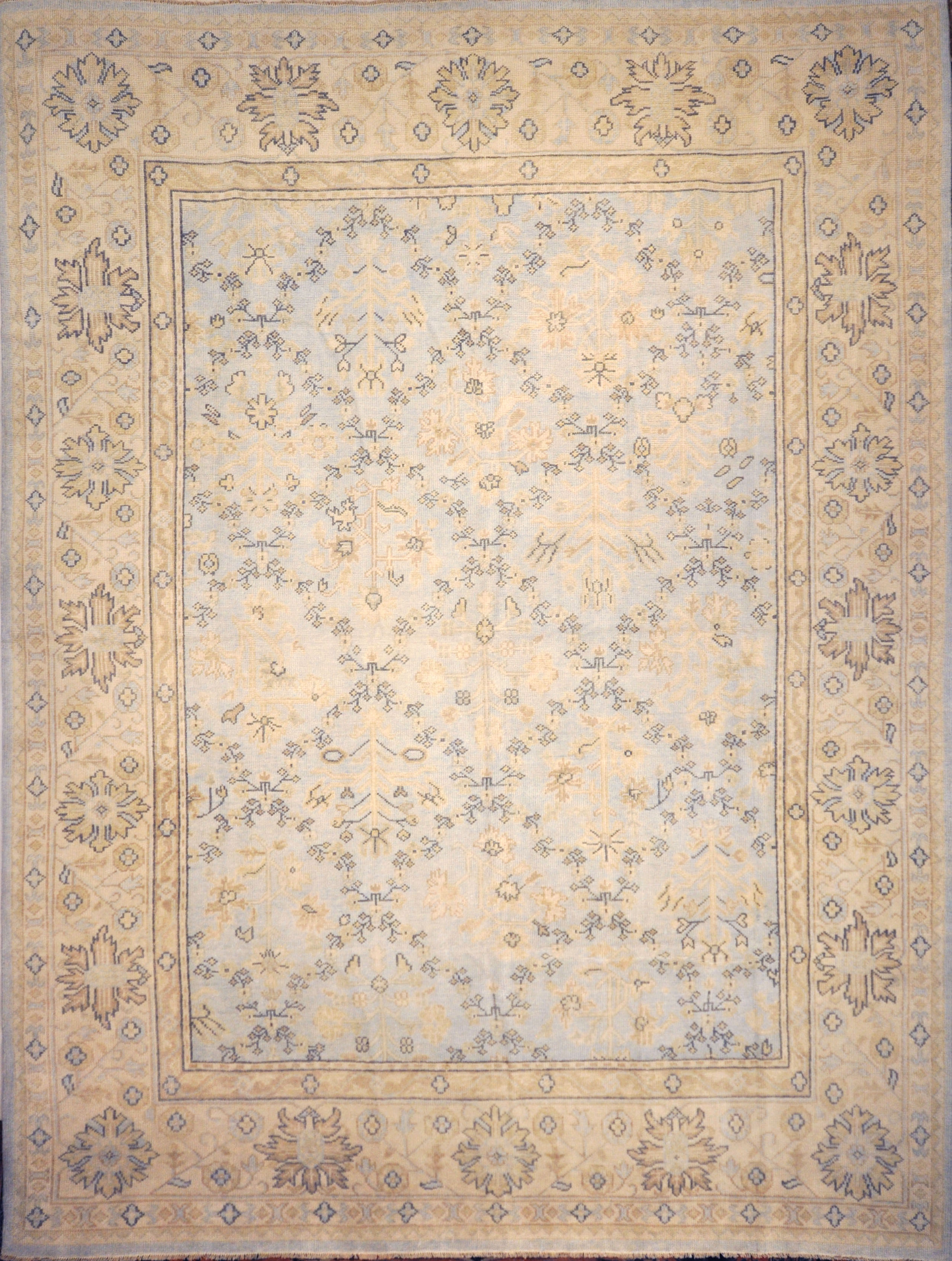 Montecito Oushak Rug 30306. A piece of genuine authentic woven art woven by Ziegler and Company and sold by Santa Barbara Design Center, Rugs and More.