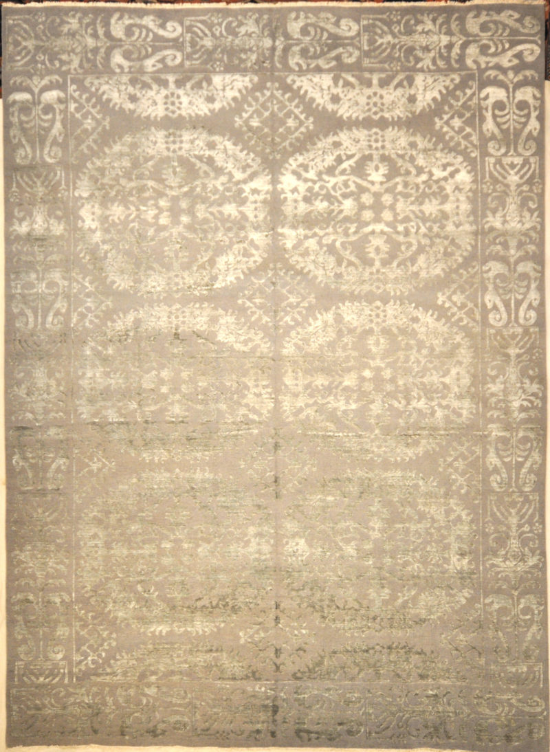 Montecito Oushak Rug 30294. A piece of genuine authentic woven art woven by Ziegler and Company and sold by Santa Barbara Design Center, Rugs and More.
