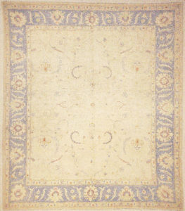 Finest Ziegler Oushak 30288. A piece of genuine authentic woven carpet art sold by the Santa Barbara Design Center, Rugs and More.