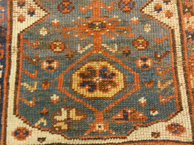 Rare Antique Turkish Tribal Makri Rug. A piece of genuine, woven carpet art sold by Santa Barbara Design Center, Rugs and More.