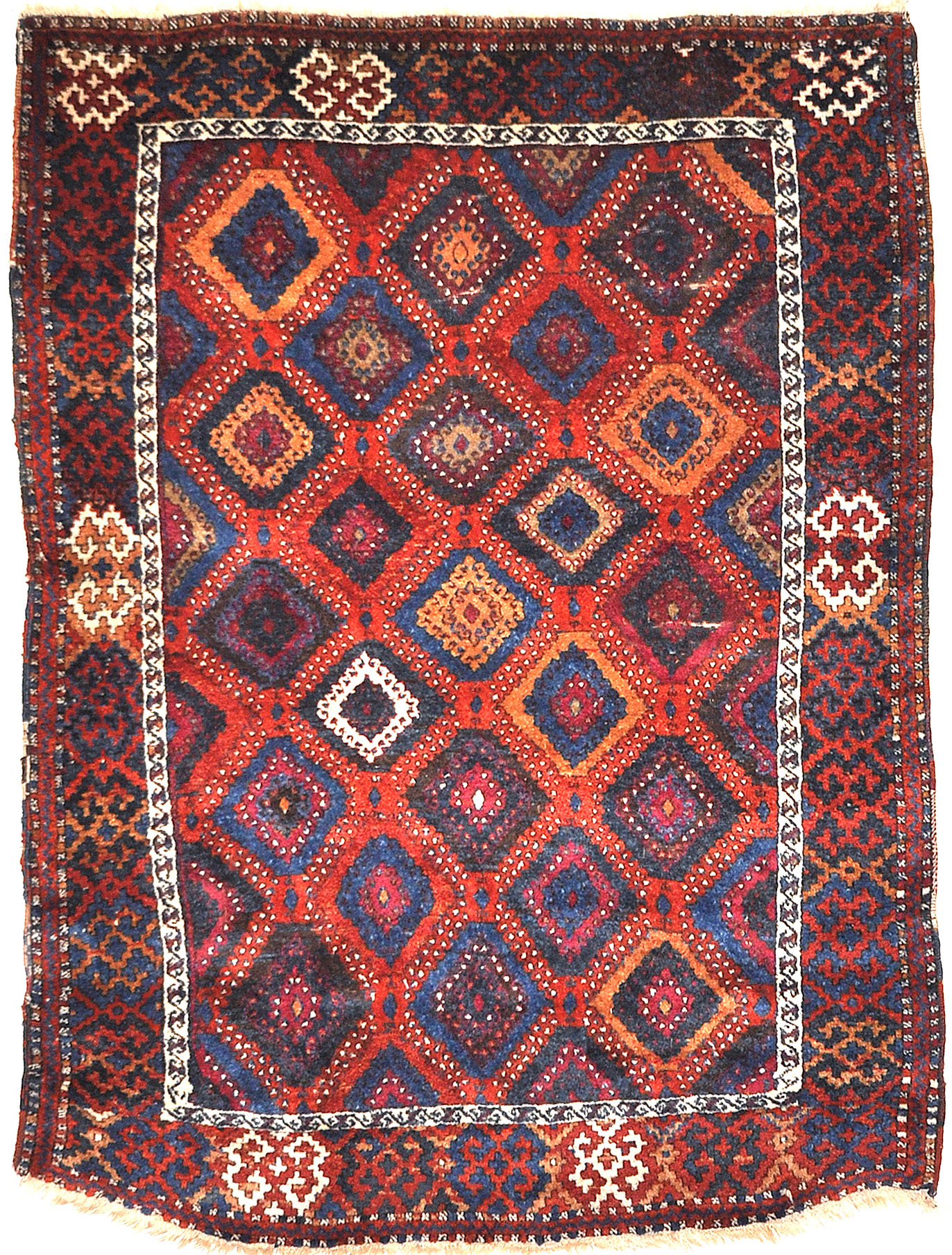 Antique Rare Eastern Kurdish Anatolian Yuruk Rug Santa Barbara