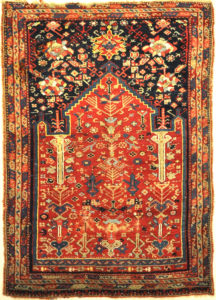 Rare Turkish Oushak Meditation Piece Circa 1800s. A very rare beautiful rug. Genuine woven carpet art sold by Santa Barbara Design Center, Rugs and More.