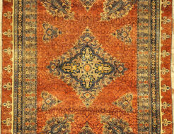 Finest Antique Silk Persian Heriz Tabriz. A piece of genuine authentic woven carpet art sold by Santa Barbara Design Center and Rugs and More.