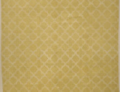 100 Knots Tibetan Yellow and White Rug. A piece of genuine woven carpet art sold by Santa Barbara Design Center, Rugs and More.