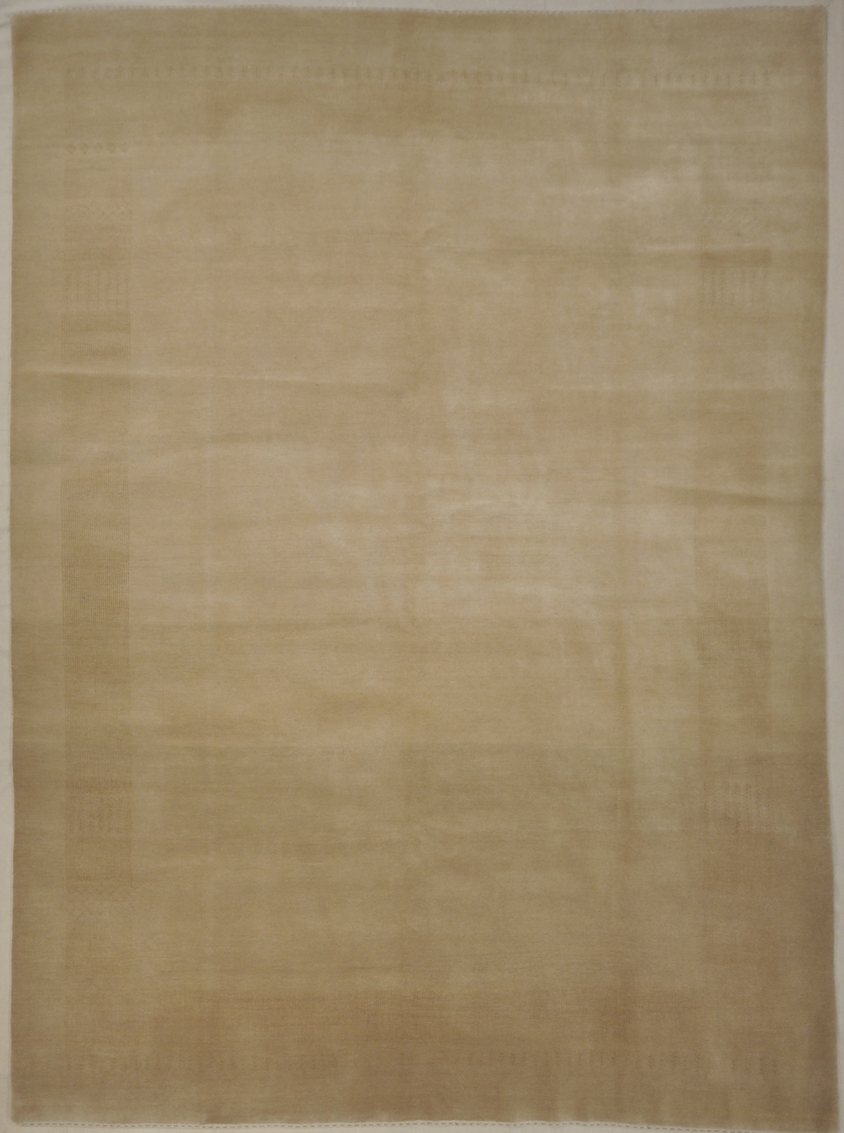 Beige Gabbeh Rug Made in India A piece of genuine authentic woven carpet art sold by Santa Barbara Design Center Rugs and More