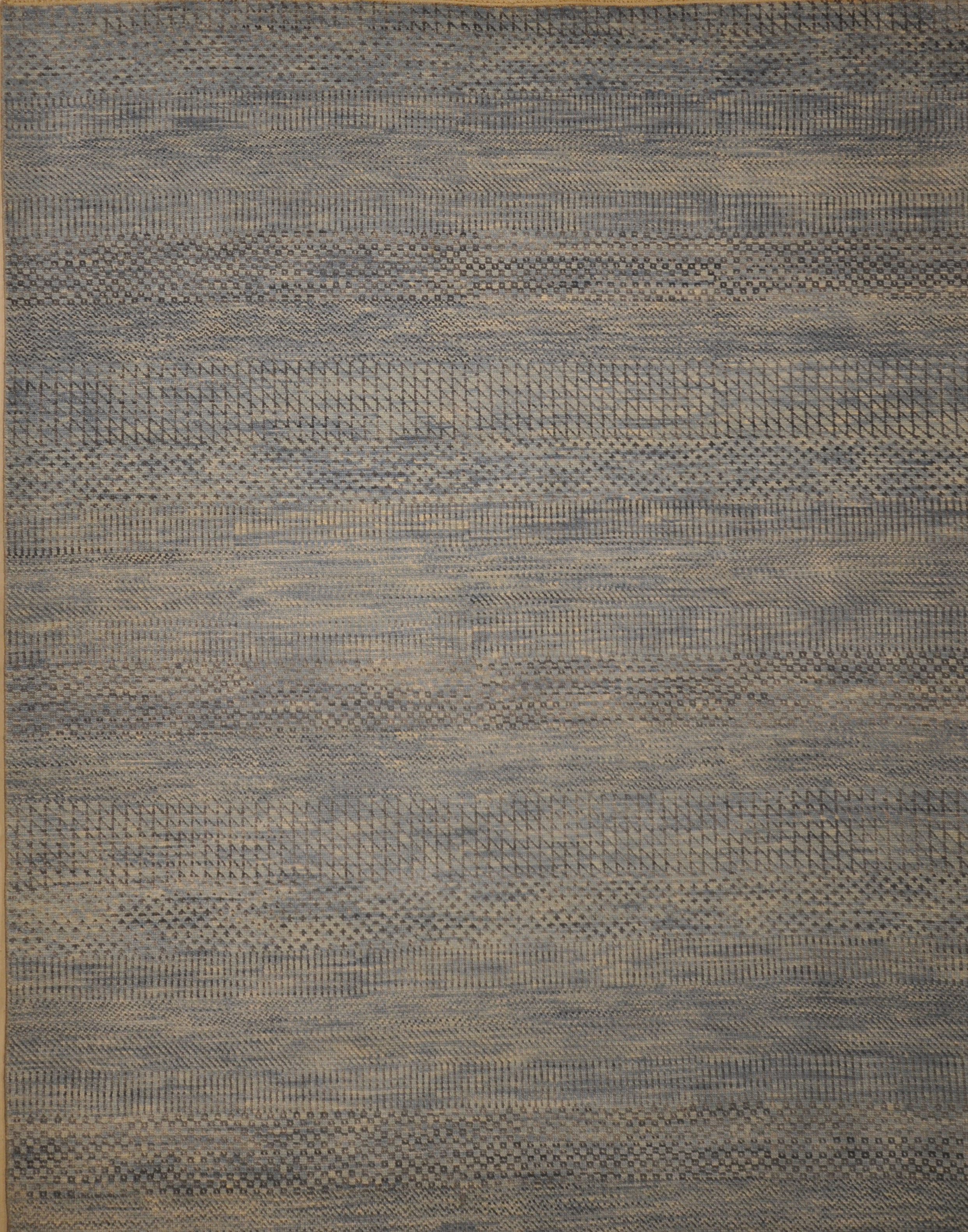 Grey Modern Patterned Rug