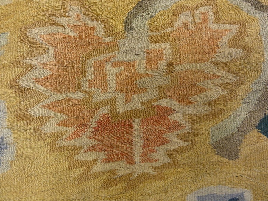 Beautiful Antique Bessarabian Kelim Rug. A piece of genuine authentic woven carpet art sold by Santa Barbara Design Center Rugs and More.