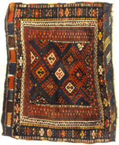Antique W. Persian Jaf Kurd. Rugs & More in the Santa Barbara Design Center. This is a very well woven bagface, making the old bagfaces very rare.