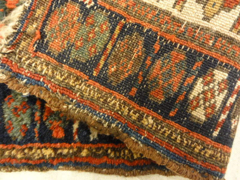 Antique Jaf Kurd Rug Circa 1870. A piece of genuine antique woven carpet art sold by the Santa Barbara Design Center, Rugs and More.