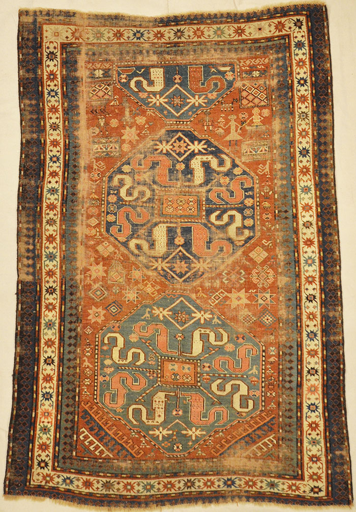 Antique Caucasian Kazak C. 1850 Rugs & More-Santa Barbara Design Center