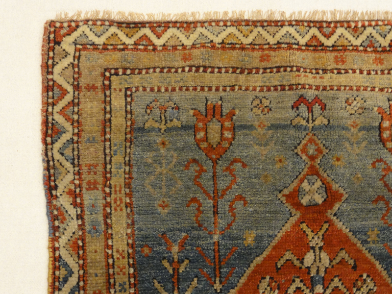 Antique Milas Prayer Rug is a prayer rug of Turkish origin. A piece of genuine woven carpet art sold by Santa Barbara Design Center Rugs and More.