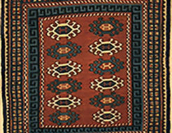 Rare Antique Caucasian Soumak Kuba Saddle Bag. A piece of genuine authentic antique woven carpet art sold by Santa Barbara Design Center Rugs and More.