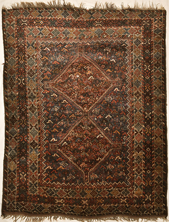 Antique Khamseh Classical Piece - Visit us at Rugs & More, in the Santa Barbara Design Center to see our wide variety of Khamseh Rugs.