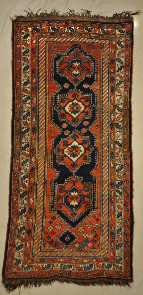 Antique Persian Kurdish Rug Wool Foundation Circa 1880