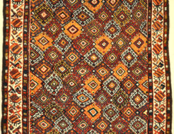 Antique Lori South Persian. A piece of genuine authentic antique woven carpet art sold by Santa Barbara Design Center, Rugs and More.
