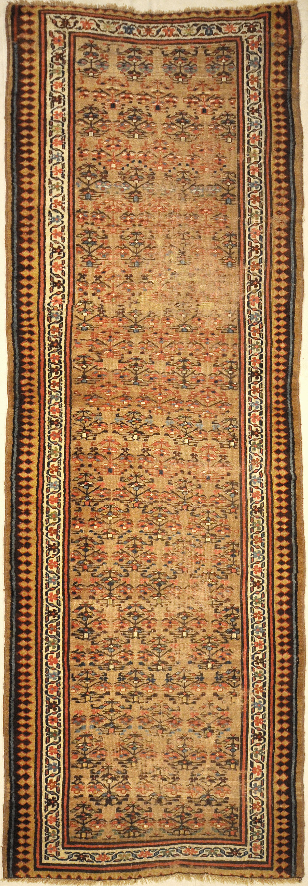 Antique Sarab Rug. A piece of genuine antique authentic woven carpet art sold by Santa Barbara Design Center Rugs and More.