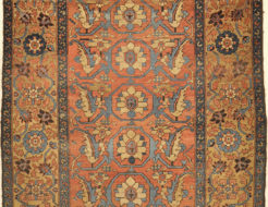 Antique Bakhshayesh Rug Circa 1880. A piece of genuine authentic woven carpet art sold by the Santa Barbara Design Center, Rugs and More.