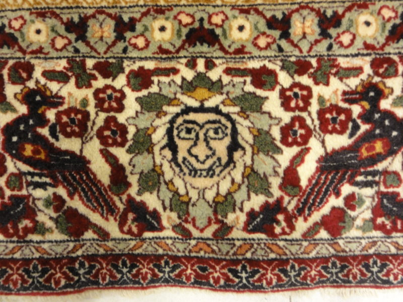 Antique Mughal Indian Emperial Rug. A piece of genuine authentic antique woven carpet art sold by Santa Barbara Design Center, Rugs and More.