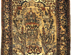 Very Rare and Unusual Antique Bakhtiari Rug. A piece of genuine authentic antique woven carpet art sold by Santa Barbara Design Center Rugs and More.