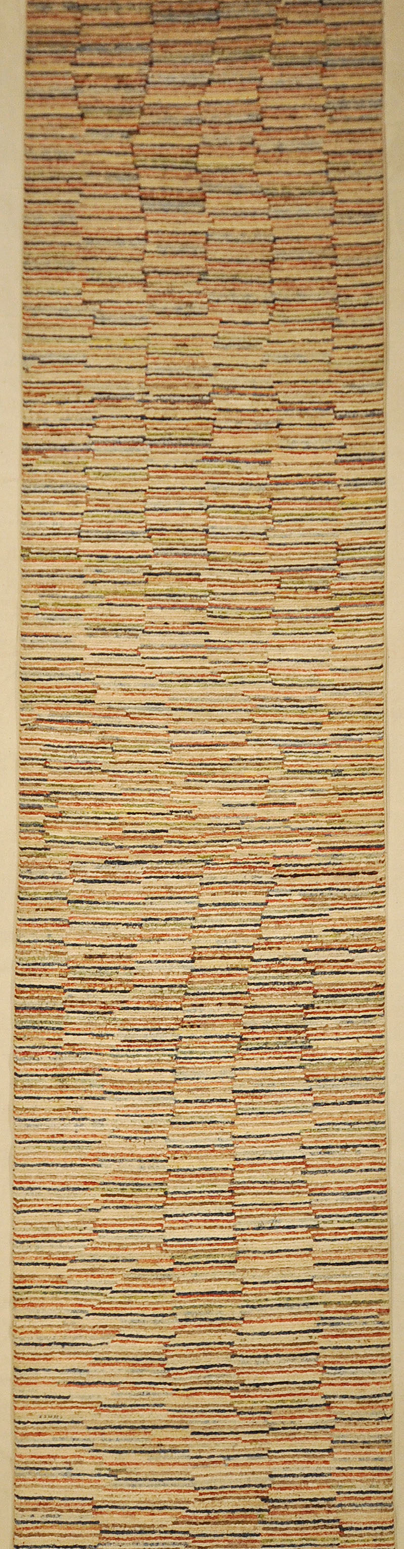 Leesa Modern Organic Stripes Runner Rug. Ziegler and Company in collaboration with designer Leesa Wilson Goldmuntz in Santa Barbara, California.