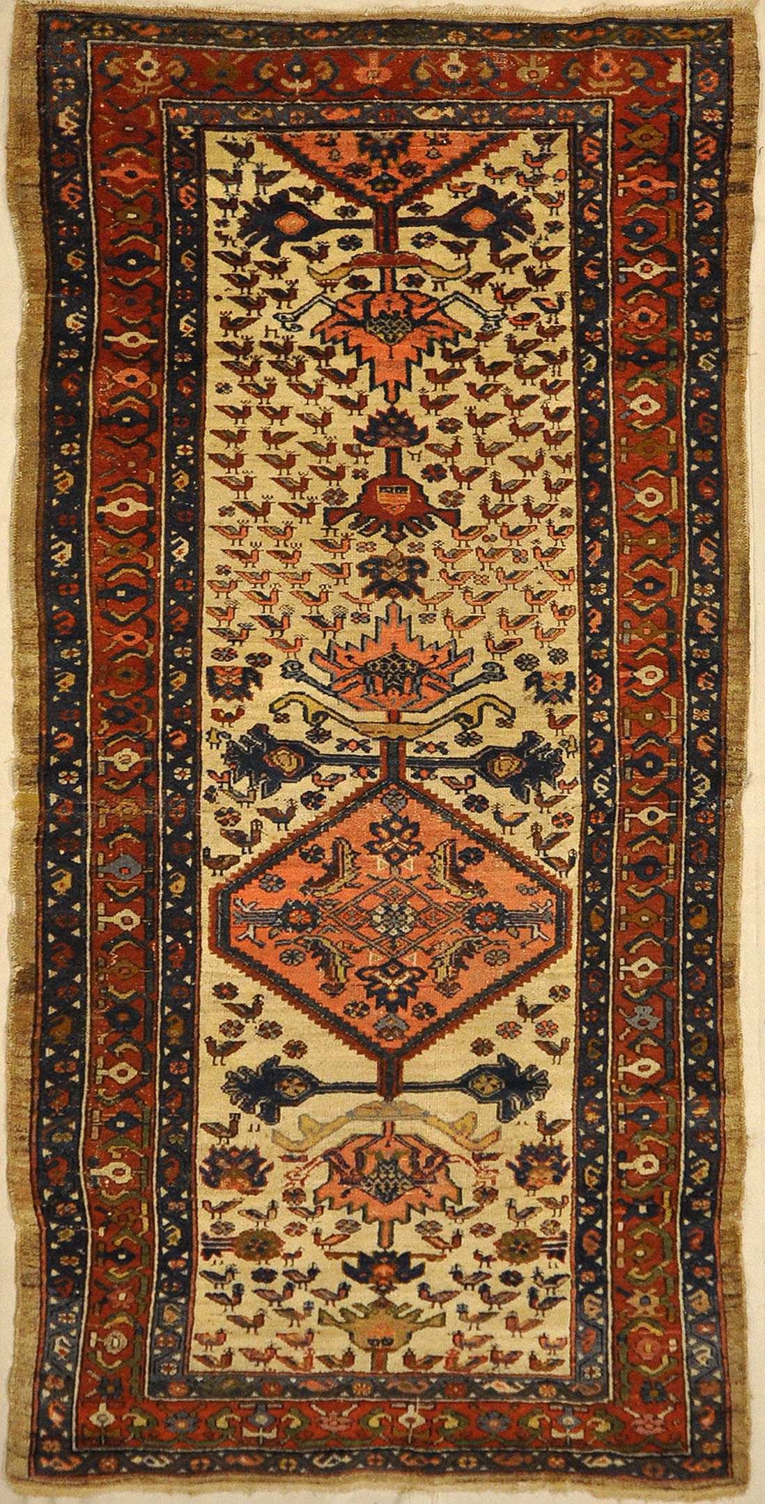 Northwest Persian Antique Karajeh Rug. A piece of genuine authentic antique woven carpet art sold by Santa Barbara Design Center, Rugs and More.